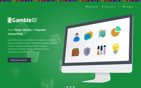 Screenshot of Home Page gambleid.com - GambleID.com - captured Oct. 1, 2014