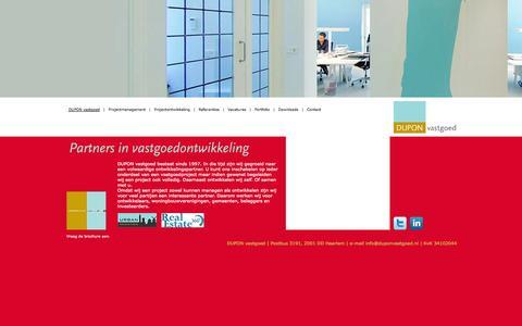 Screenshot of Home Page duponvastgoed.nl - Dupon Vastgoed | DUPON vastgoed - captured Oct. 8, 2014