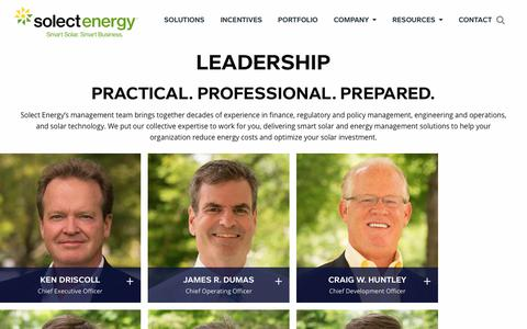 Screenshot of Team Page solect.com - Our Team | Management | Solect - captured March 31, 2018