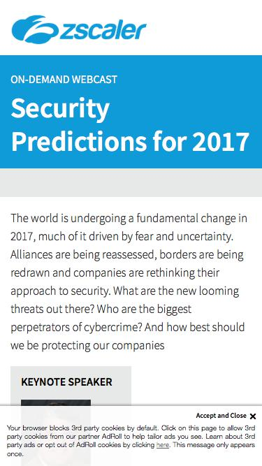 Security Predictions for 2017   Zscaler
