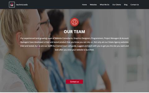 Screenshot of Team Page technicweb.com - Technicweb Staff l Meet The Team - captured Jan. 13, 2016