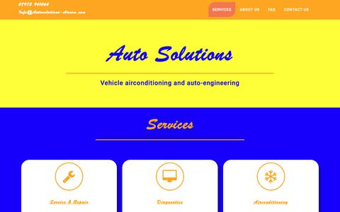 Screenshot of Home Page autosolutions-aircon.com captured Oct. 4, 2018