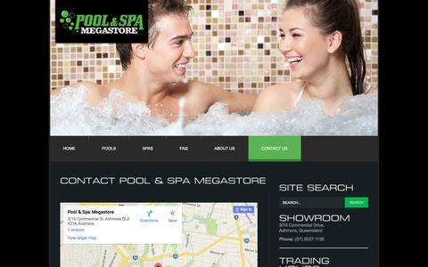 Screenshot of Contact Page poolandspamegastore.com.au - Contact Pool & Spa Megastore - captured July 14, 2016