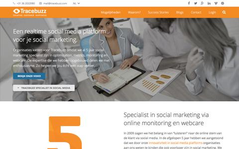 Screenshot of Services Page tracebuzz.com - Social marketing strategie met rendement via Tracebuzz - captured Jan. 12, 2016
