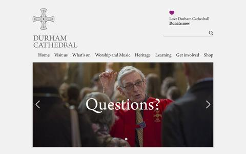 Screenshot of FAQ Page durhamcathedral.co.uk - FAQs | Durham Cathedral - captured Aug. 9, 2018