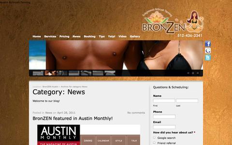 Screenshot of Press Page bronzenaustin.com - News | BronZEN Austin - captured Oct. 5, 2014