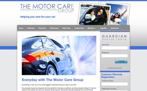 Screenshot of Home Page motorcaregroup.com.au - Home - The Motor Care Group - captured Oct. 9, 2014