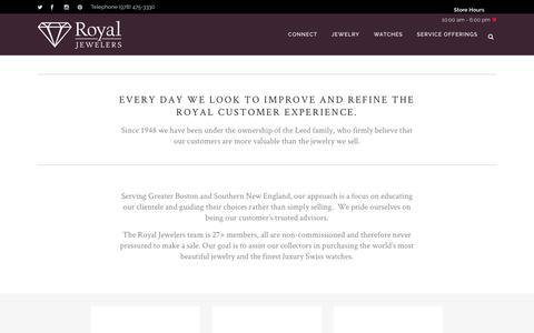 Screenshot of Testimonials Page royaljewelers.com - Testimonials | Royal Jewelers - captured Dec. 14, 2016