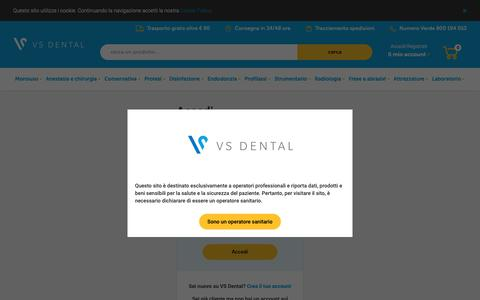 Screenshot of Login Page vsdental.it - VS Dental | l'e-commerce delle promozioni dentali - captured Dec. 20, 2018