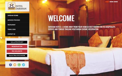 Screenshot of Home Page hoteldarshan.com - Hotel Darshan OotyHotel Darshan | Best Hotel in Ooty - captured March 13, 2016