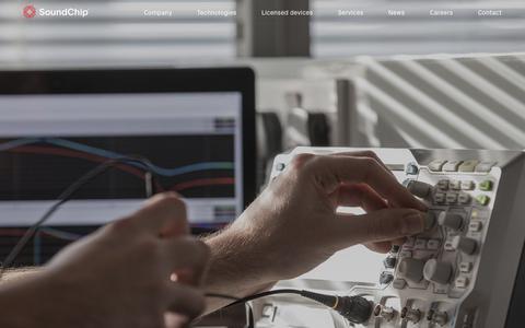 Screenshot of Services Page soundchip.ch - Services   SoundChip - captured June 15, 2017