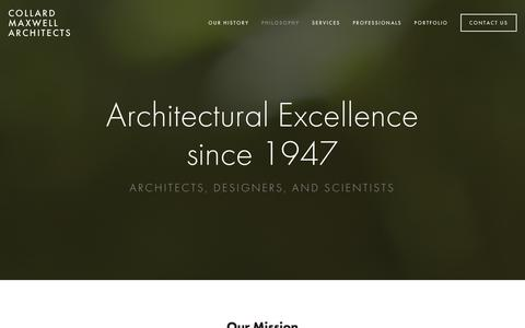 Screenshot of Home Page collard.com.au - Collard Maxwell Architects - captured Jan. 27, 2016