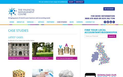 Screenshot of Case Studies Page tfmcentre.co.uk - Case Studies by The Financial Management Centre. Read our success stories! - captured Oct. 22, 2017