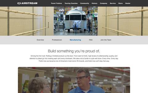Screenshot of Jobs Page airstream.com - Manufacturing Careers | Airstream - captured Dec. 29, 2017