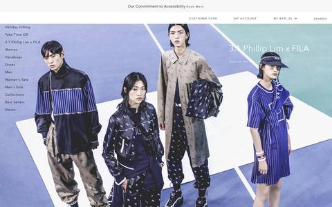 Screenshot of Home Page 31philliplim.com - 3.1 Phillip Lim Official Site | Designer Clothing & Accessories - captured Dec. 25, 2018