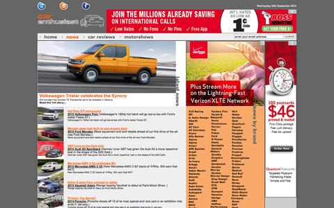 Screenshot of Press Page carenthusiast.com - News |  by Car Enthusiast - captured Sept. 24, 2014