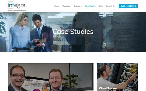 Screenshot of Case Studies Page integral-it.co.uk - Case Studies - Harrogate, Knaresborough, Pannal | Integral IT - captured Oct. 12, 2018