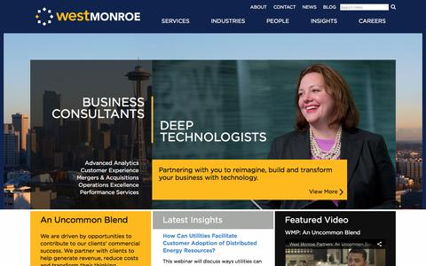 West Monroe Partners: Business Consultants | Deep Technologists