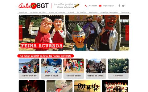 Screenshot of Home Page aulabgt.com - Aula BGT | La millor qualitat en lleure educatiu - captured May 30, 2017