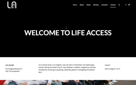 Screenshot of Home Page lifeaccess.nl - LifeAccess | Jesus is the Access to Life - captured July 18, 2018