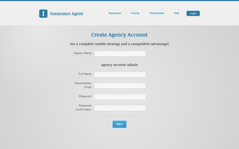 Screenshot of Signup Page goinsuranceagent.com - Insurance Agent - Registrations - New - captured Feb. 11, 2016