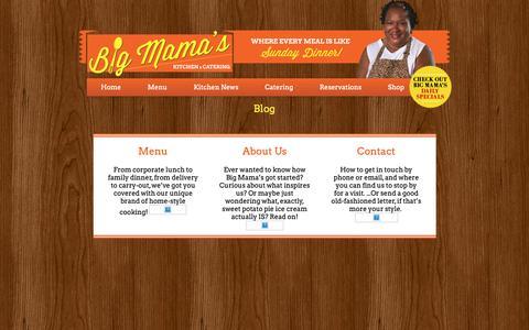Screenshot of Blog bigmamaskitchen.com - Blog «  Big Mama's Kitchen - captured Nov. 13, 2018