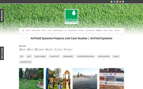 Screenshot of Case Studies Page airfieldsystems.com - AirField Systems  AirField Systems Projects / Case Studies - AirField Systems - captured July 25, 2016