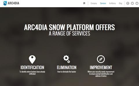 Screenshot of Services Page arc4dia.com - Arc4dia - captured Sept. 30, 2014