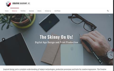 Screenshot of About Page creativequadrant.com - About us – Creative Quadrant, Inc - captured Sept. 28, 2016