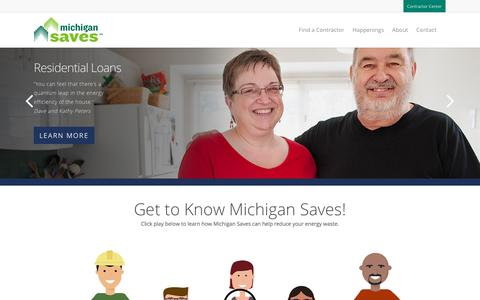 Screenshot of Home Page michigansaves.org - Michigan Saves – Easy. Affordable. Smart. - captured Jan. 17, 2018
