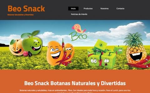 Screenshot of Home Page beo.com.mx - Botanas Naturales y saludables, - captured Sept. 10, 2015