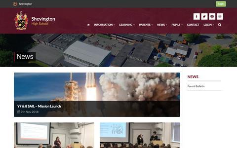 Screenshot of Press Page shevingtonhigh.org.uk - News   Shevington - captured Nov. 17, 2018