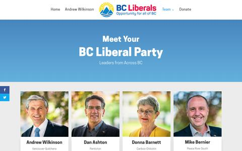 Screenshot of Team Page bcliberals.com - Team - BC Liberal Party - captured Nov. 15, 2018
