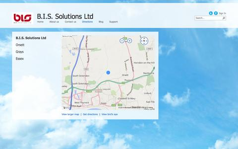 Screenshot of Maps & Directions Page bissolutions.co.uk - Directions - captured Oct. 2, 2014