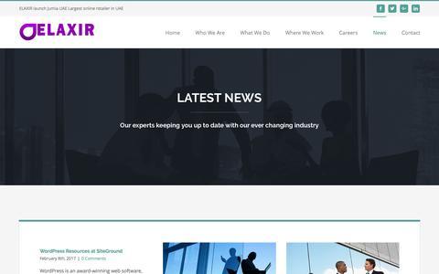 Screenshot of Press Page elaxir.com - News – Elaxir - captured May 15, 2017