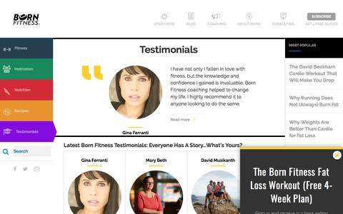 Born Fitness Testimonials: Everyone Has A Story...What's Yours?