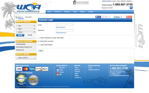 Screenshot of Login Page wcaperformance.com - Login - captured Oct. 26, 2014