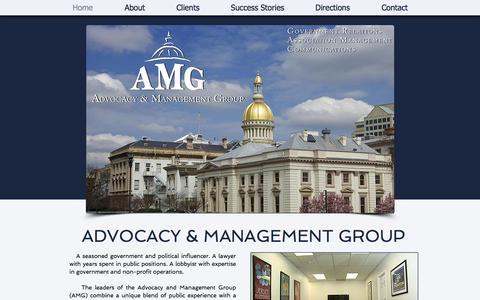 Screenshot of Home Page amg101.com - Advocacy & Management Group - captured Oct. 4, 2014