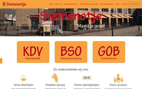 Screenshot of Home Page siemenotje.nl - Siemenotje - captured Sept. 27, 2018