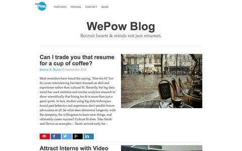 Screenshot of Blog wepow.com - WePow Blog - captured Nov. 4, 2014