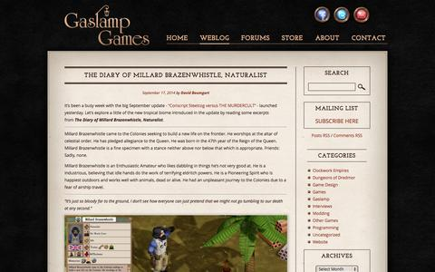 Screenshot of Blog gaslampgames.com - Blog | Gaslamp Games - captured Sept. 23, 2014