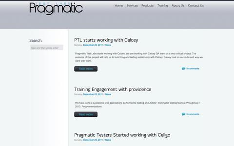Screenshot of Press Page pragmatictestlabs.com - Pragmatic Test Labs News - captured Sept. 30, 2014