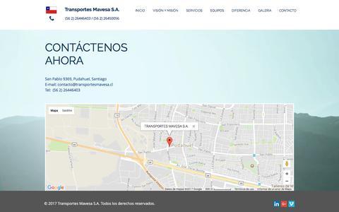 Screenshot of Maps & Directions Page transportesmavesa.cl - transportesmavesa | MAP - captured Nov. 8, 2017