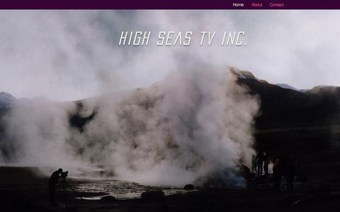 Screenshot of Home Page highseas.tv - High Seas TV Inc. - captured Jan. 29, 2016