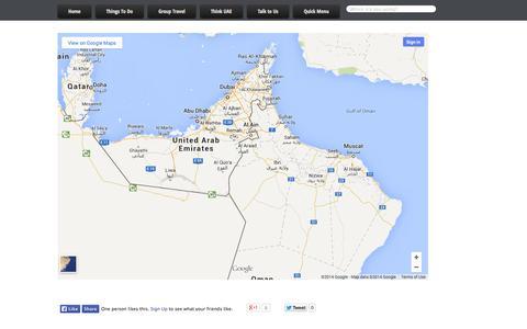 Screenshot of Maps & Directions Page alkazimatravel.com - Map | Al Kazima Travel and Tourism - captured Oct. 4, 2014