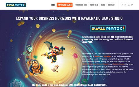 Screenshot of Home Page ravalmatic.com - RAVALMATIC game studio - HTML5 games experts - captured Oct. 19, 2018