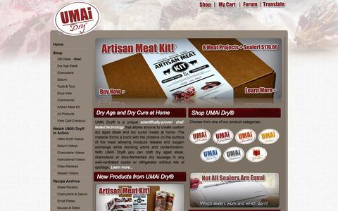 Screenshot of Home Page drybagsteak.com - Dry Age Steak At Home - Dry Aging Beef - Charcuterie & Salumi Kits - captured Oct. 1, 2015