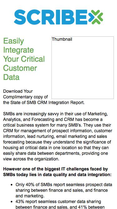 State of SMB CRM Integration, IT Pain Points and Investments 2013 - Report