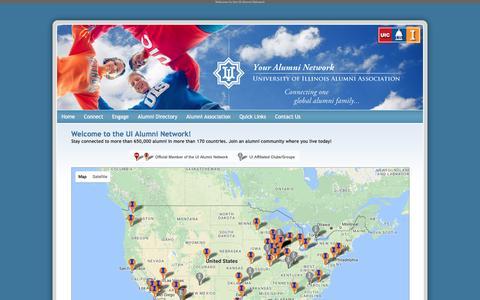 Screenshot of Maps & Directions Page uialumninetwork.org - UI Alumni Network - captured Jan. 5, 2017