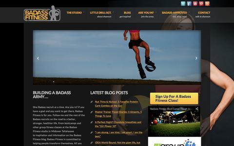 Screenshot of Home Page badassfitness.com - Home - Badass Fitness - Badass Fitness - captured Feb. 1, 2016